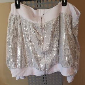 NWT Plus Size Off Shoulder Sequin Jacket